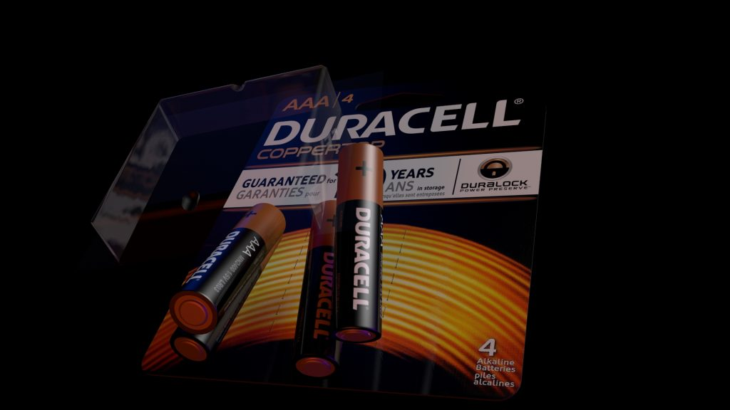 Duracell 3d graphic